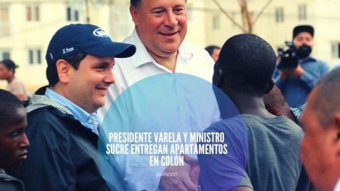 Presidente Varela y ministro Sucre entregan apartamentos en